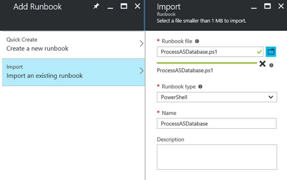 Process Azure Analysis Services databases from Azure