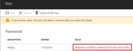 App Registration Key
